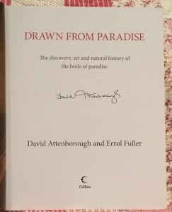 Book Drwan From Paradise, signed by Sir David Attenborough