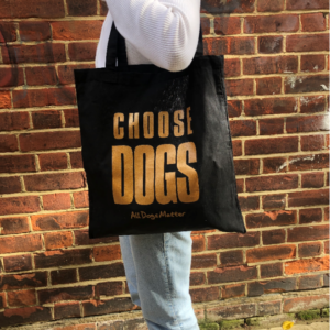 Choose Dogs tote bag – Black and Gold