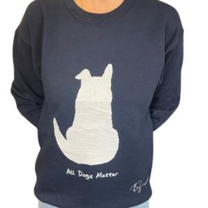 Limited Edition: Ricky Gervais Designed Navy Sweatshirt